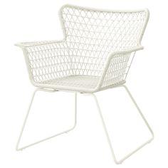 HÖGSTEN chair, in hand-woven plastic rattan, W73 x D65 x H83cm, seat W38 x D48 x H42cm, by Nike Karlsson, £65