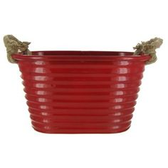$13.99  Red Metal Tubs with Rope Handles Set | Shop Hobby Lobby