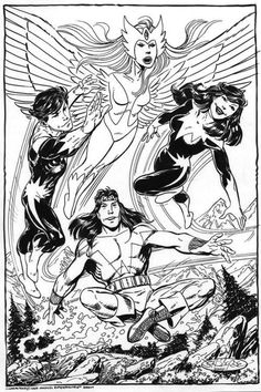 Alpha Flight commission by John Byrne from 2006.