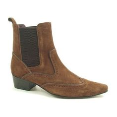 2778932ca45 Mens  brown suede heeled chelsea boot with a 45 mm heel. Lots of colours in  this range of cuban heel boots.