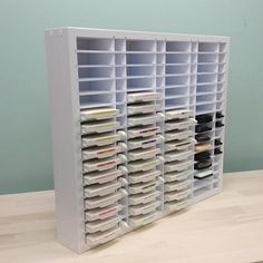 The Ink/ ReInk Combo Organizer stores up to 64 of the most popular ink pads including Stampin Up', Close To My Heart, Versamark, and more! The Ink / ReInk also stores 64 standard .5oz refill bottles as well!