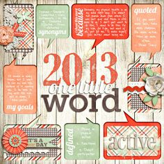 good idea for journaling, new year's resolutions, etc.