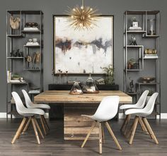 Creative Rustic Dining Room Design Ideas - Home Design - lmolnar - Best Design and Decoration You Need Modern Farmhouse Dining, Dining Room Makeover, Modern Dining Room Tables, Dining Room Contemporary, Dining Room Decor, Dining Room Industrial, Rustic Dining Room, Luxury Dining Tables, Dining Room Design Modern
