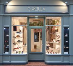 C PETULA shoe store Paris. We love their simple window display and how inviting it looks!