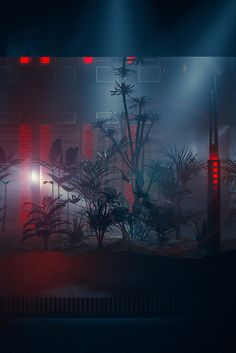 cyberpunk tropical