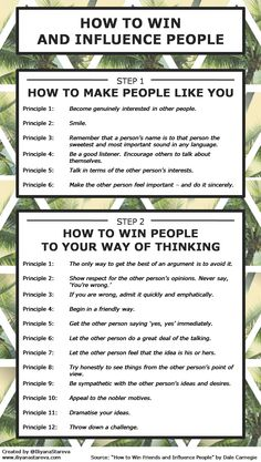 How to Win and Influence People #Infographic