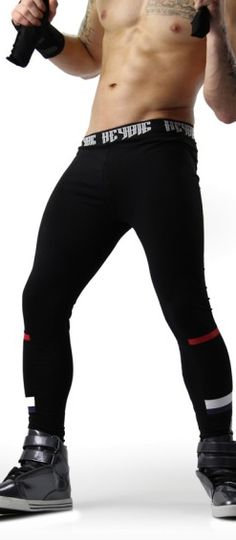 Menswear Online Shopping Black Meggings Fashion Different Stylish Mens Fashion, Male Fashion, Gym Pants, Tights, Leggings, Workout Attire, Body Contouring, Mens Activewear, Athletic Wear