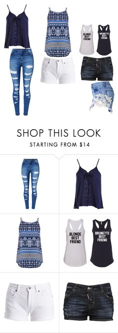 """""""Loving it"""" by taylorlaw-1 on Polyvore featuring WithChic, Sans Souci, Dorothy Perkins, Barbour International and Dsquared2"""