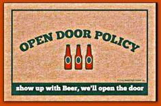 door mat craft beer funny