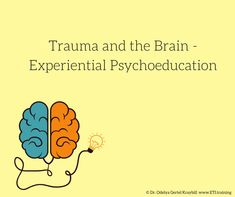 One of the pillars of effective trauma therapy is psychoeducation. Many studies and reports now confirm that survivors benefit from a clear, complete und Social Work Activities, Attention Deficit Disorder, Trauma Therapy, Complex Ptsd, Adult Adhd, Sensory Integration, Human Services, Experiential