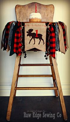 WOODLAND MOOSE Camping Cabin Fishing Hunting by RawEdgeSewingCo