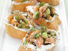 """Smoked Salmon Crostini 