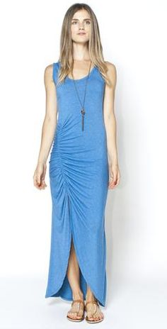This Gita #maxi has it all with #ruching and a #slit Portland's best boutique with women's clothing in the Pearl District – Mabel & Zora