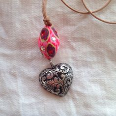 Billie+Beads+Vintage+Puffy+Sterling+Heart+Charm+&+by+BillieBeads,+$50.00