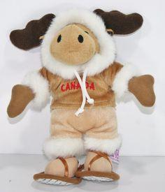 "Plush MOOSE Creature Comforts Toys 10"" Stuffed Animal Canada Snow Shoes Plush #CreatureComfortsPlushToys"