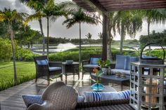 Patio view of La Cana Golf Club, the Estates at Puntacana. Custom built homes designed and constructed by Grupo Dupla, Dominican Republic. Beach Haven, Custom Built Homes, Dominican Republic, Luxury Real Estate, Caribbean, Building A House, Construction, House Design, Patio