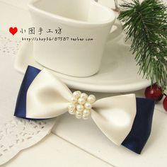 Bow Ribbons and Pearls - Moño cintas y perlas bow ribbon, pearls, hair beauty, hairand makeup, dull hair, hair style, hair bows, moño, hair clip