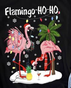 Holiday prints Christmas Palm Tree, Tropical Christmas, Christmas Words, Beach Christmas, Coastal Christmas, Christmas Images, Christmas Humor, Christmas Crafts, Flamingo Photo