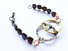Double Circle Mixed Metal Bracelet Brass And by MetalMomJewelry, $40.00