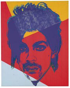 Andy Warhol (American, 1928-1987), Prince, 1984. Acrylic and silkscreen ink on canvas, 51 x 40.5 cm.