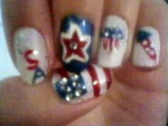 Memorial Day/ 4th of July Nail art design