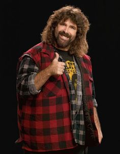 His real name is Michael Francis Foley, Sr. He is also called The Hardcore Legend. He wrestled under several names, like Dude Love, Cactus Jack and Mankind, collectively known as the Three Faces of Foley. He won three WWE championships, was an eight-time tag team champion and was the first Hardcore Champion. He still appears occasionally as a color commentator. He is to be inducted into the Hall of Fame in April 2013.