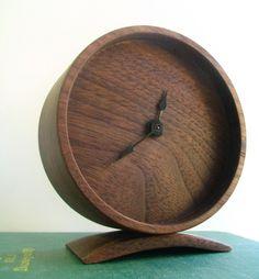 Walnut Clock by Off Cut Studio