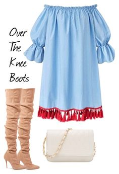 """""""Over-The-Knee-Boots"""" by parkeraggie-1 ❤ liked on Polyvore featuring Balmain"""
