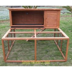 Having rabbits as a pet is quite easy, since they take very little to eat and can groom themselves. If you ever think of raising rabbits; then you'll need to take a look at these DIY rabbit hutch plans & ideas, as your very first start. Rabbit Hutch And Run, Rabbit Hutch Plans, Bunny Hutch, Rabbit Run, House Rabbit, Rabbit Hutches, Bunny Rabbit, Rabbit Cages Outdoor, Outdoor Rabbit Hutch