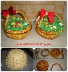 Veľkonočný košík z kysnutého cesta Muffin, Breakfast, Food, Morning Coffee, Eten, Cupcakes, Muffins, Meals, Morning Breakfast