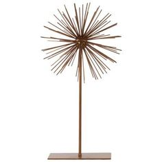 Lovely Sea Urchin Large Ornamental Sculpture decor - Gold - Benzara