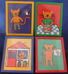 Lucy Cousins Katycat and Beaky Boo Art Lot of Four