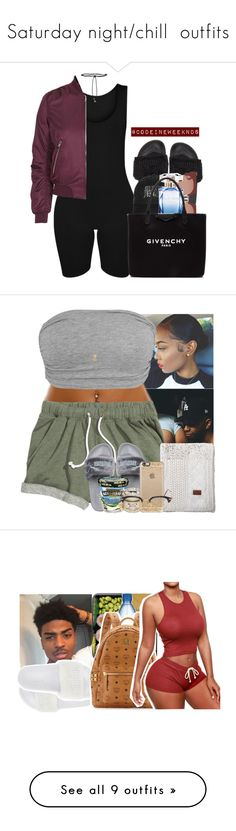 """""""Saturday night/chill  outfits"""" by blacklegends ❤ liked on Polyvore featuring Puma, Aamaya by priyanka, Topshop, Marni, Elie Saab, Givenchy, GANT, Wanderlust + Co, Burt's Bees and Casetify"""