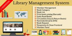Library Management System Software offers certain features which prove helpful, not only for the Educational Institutions but also for students. Management Books, Book Categories, Book Catalogue, Software Development, Book Lists, Books To Read, Coding, Education, Students