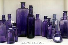 groupings - purple glass