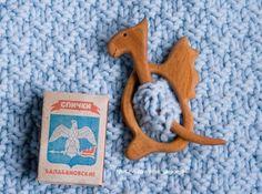 barrette, brooch, fibula Dragon. Wood: Juniper