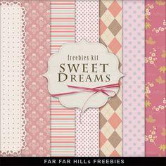 Far Far Hill: New Freebies Kit - Sweet Dreams. Free Digital paper