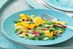 YELLOW ZUCCHINI, RADISH AND BEAN SALAD RECIPE