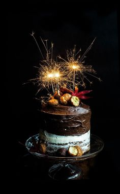 Diwali Cake- layers of Gulab Jamun, Bitter Almond Cookie, and Chocolate. Covered in a Swiss Buttercream and Chocolate Mousse Ganache Birthday Wishes Cake, Happy Birthday Cakes, Birthday Bash, Latest Happy Birthday Images, Fireworks Cake, Bowl Cake, Pecan Nuts, Fashion Cakes, Cake Images