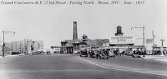 Grand Concourse & E 153rd Street - Facing North - Bronx, NYC - Years 1937