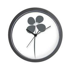 Cute Flower Gardener Florist Floral Wall Clock