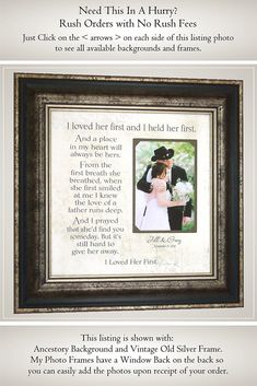 Dad Wedding Gift from Bride for Father of the Bride, Handmade Wedding Gifts from PhotoFrameOriginals Custom Photo Mat, Thank You Gift For Parents, Wedding Gifts For Parents, Wedding Gifts For Bride, Custom Wedding Gifts, Best Wedding Gifts, Bride Gifts, Gifts For Father, Mother Gifts, Fathers