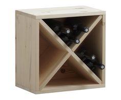 Casier à bouteilles bois d'épicéa, naturel - L40 | Westwing Home & Living