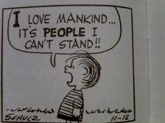 I love mankind...