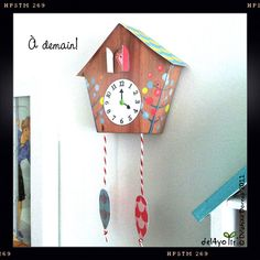 Make your own cuckoo clock!  Le lapin dans la lune - Non dairy Diary
