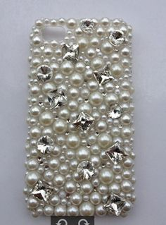 New Bling Sparkle Crystal All Pearls Big Rhinestones iPhone 4/4S Case
