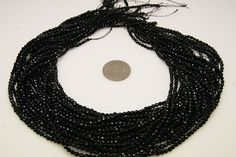 1strand  black agate faceted ball sized 3mm by 3yes on Etsy