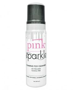 Pink sparkle toy cleaner 8 oz - Take excellent care of all your toys with our PINK Sparkle Foaming Toy Cleaner. Our unique foaming formula is%2...