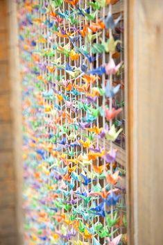 45 inspirational boho wedding decor ideas -  Hanging paper cranes  | CHWV