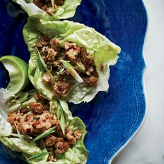 Sweet and Sour Pork in Lettuce Cups Recipe - Todd Porter and Diane Cu | Food & Wine